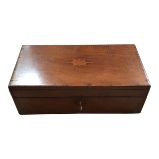 Vintage Victorian Document Writing Desk Box with Inlay