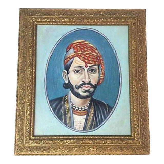 Indian Maharaja Portrait Painting For Sale