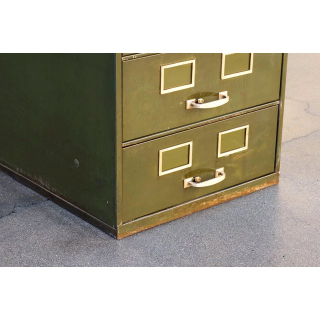 Remington Rand 1930s Multi Drawer Card Filing Cabinet by Remington Rand For Sale - Image 4 of 13