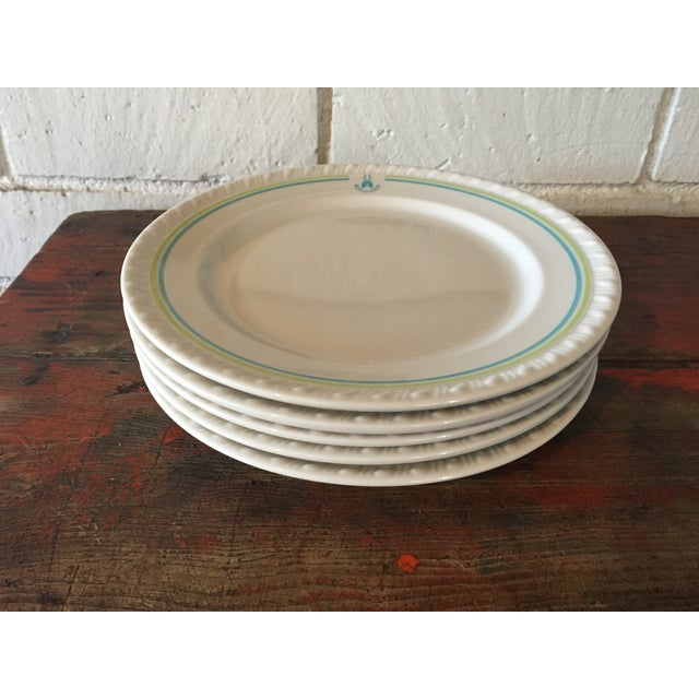 Restaurant Ware Plates with Castle - Set of 6 - Image 2 of 8