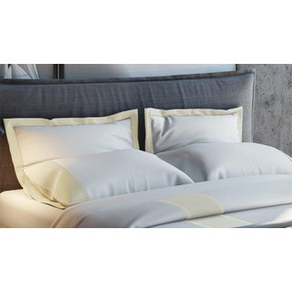 Monte Carlo Banded Pillowcases Standard - Limestone Preview