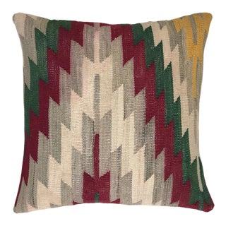 "Dazzling Diamond Vintage Kilim Pillow | 20"" For Sale"