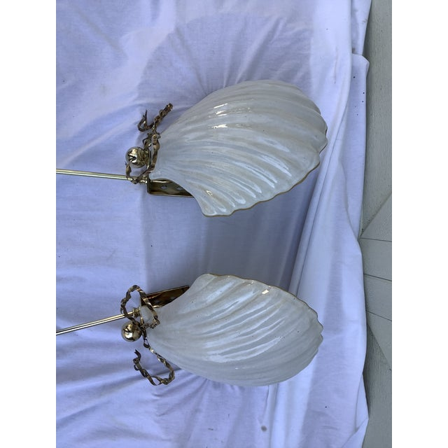 Chapman Manufacturing Company Chapman Shell Sconces, a Pair For Sale - Image 4 of 13