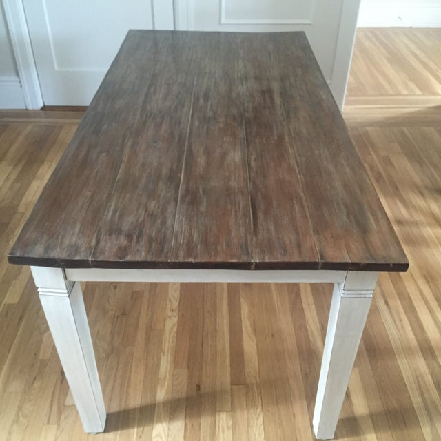 Antiqued Farmhouse Dining Table - Image 2 of 8