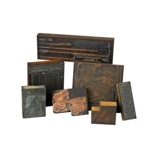 Collection of Old Print Blocks