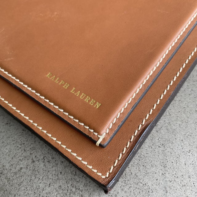 Upgrading you home office? Timeless, clean and modern the Ralph Lauren Brennan leather desk blotter is the ultimate in...