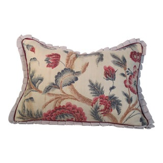 1920s Boho Chic Printed Linen Pillow For Sale
