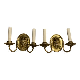 1920s Caldwell Double Light Sconces - a Pair For Sale