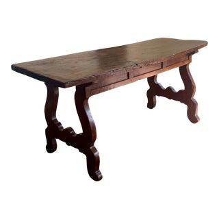 18th Century Italian Walnut Lyre Desk For Sale