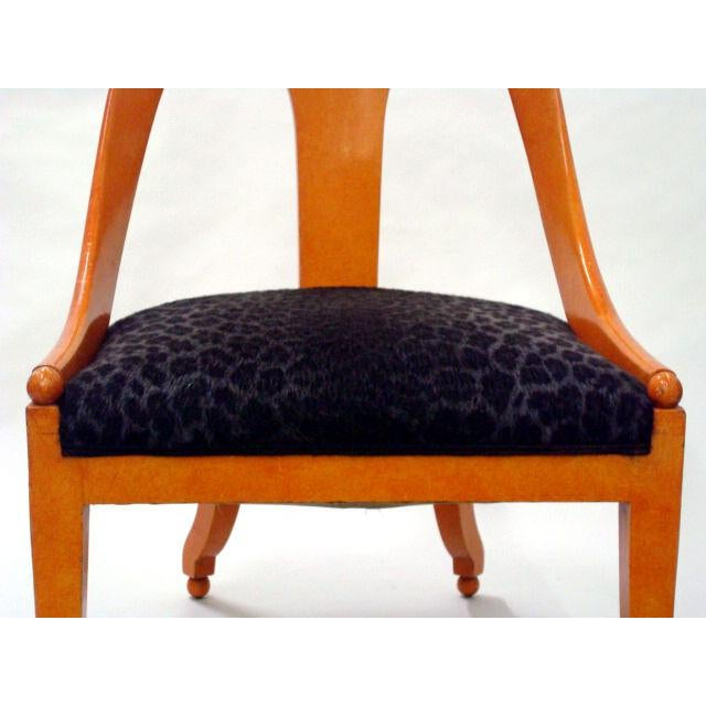 Brown Michael Taylor for Baker Neoclassic Spoonback Chairs - a Pair For Sale - Image 8 of 9