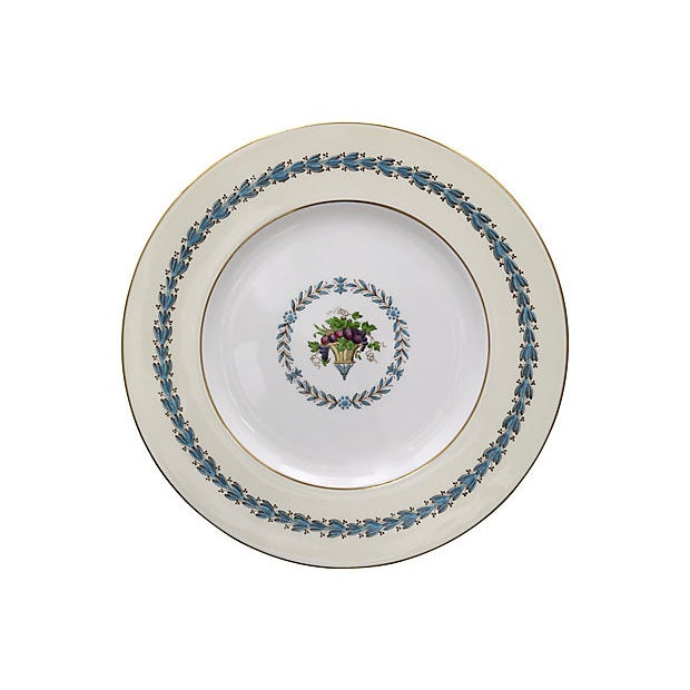 Mid 20th Century Wedgwood Floral Dinner Plates, S/8 For Sale - Image 5 of 7