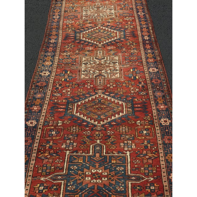 "Vintage Persian Karajeh Runner - 3'1"" x 11'6"" - Image 3 of 10"