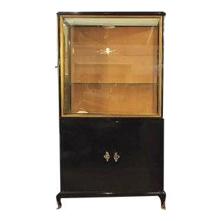 Maison Jansen Style Ebonized Louis XV Style China Cabinet Vitrine Bookcase