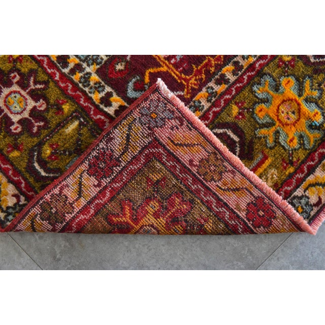"""Antique Turkish Rug Hand Knotted Prayer Rug - 3'4"""" X 5' For Sale - Image 10 of 12"""