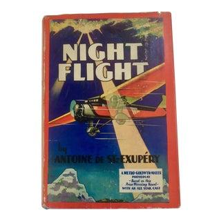 "1930s Traditional ""Night Flight"" by Antoine De Saint-Exupery"