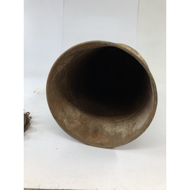 Vintage Industrial Metal Oil Barrel With Lid For Sale - Image 10 of 13