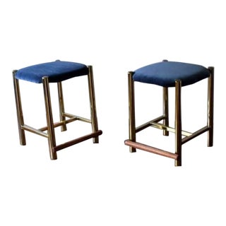 Vintage Mid Century Hollywood Regency Cal-Style Stools- a Pair For Sale