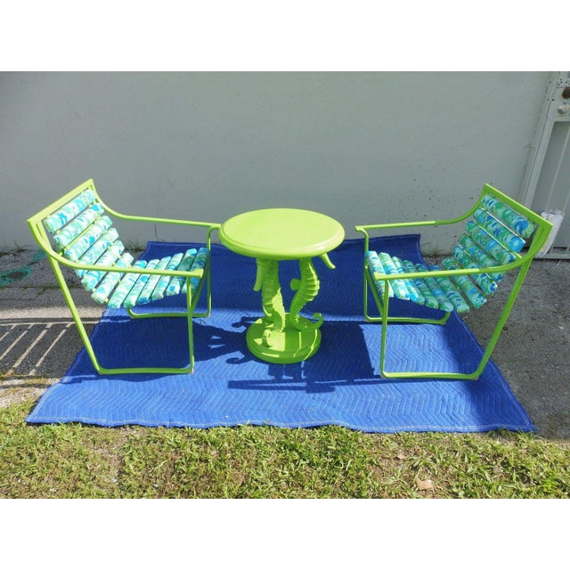 Contemporary 60's Vintage Samsonite Wrought Iron Patio Set For Sale - Image 3 of 12