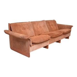 Suede Sofa Danish Modern Ebbe Gehl & Soren Nissen, Denmark 1960s For Sale