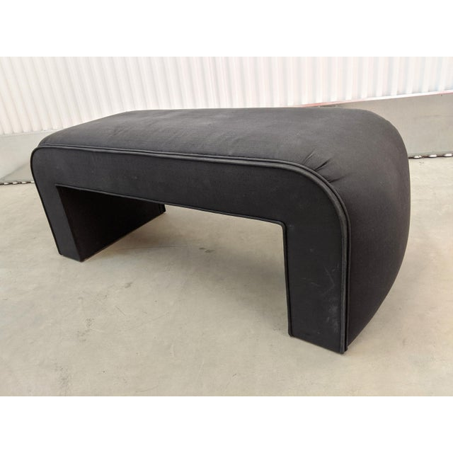 1990s Modern Upholstered Waterfall Bench For Sale - Image 9 of 9