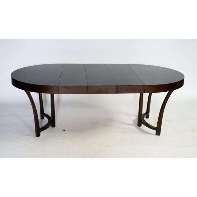 Mahogany t.h. Robsjohn Gibbings Expandable Dining Table For Sale - Image 7 of 9