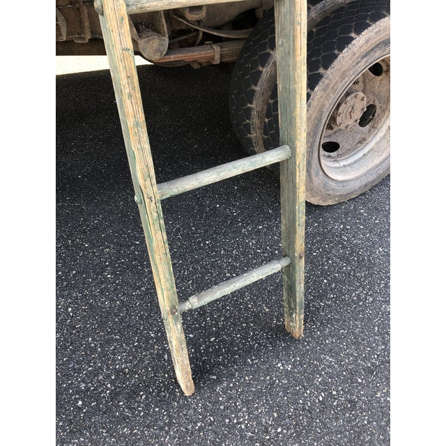 Rustic Authentic American Country Apple Ladder For Sale - Image 3 of 8