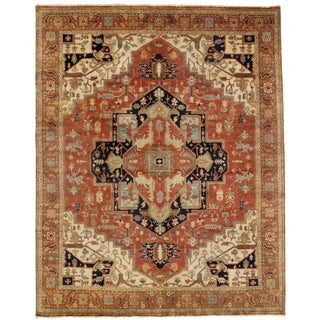 """Traditional Pasargad N Y Serapi Design Hand-Knotted Rug - 7'11"""" X 9'11"""" For Sale"""