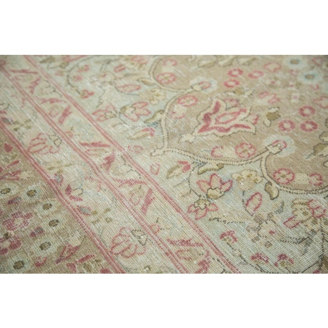 """Islamic Vintage Distressed Meshed Carpet - 9'3"""" x 12'5"""" For Sale - Image 3 of 10"""