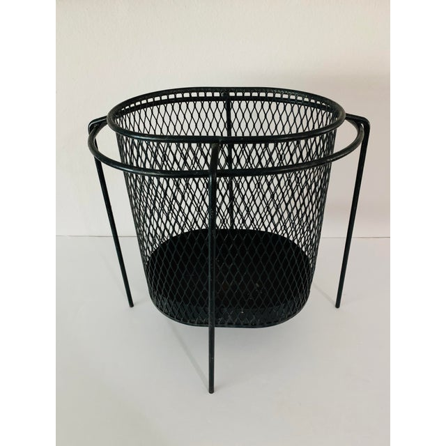 Maurice Duchin Floating Iron Mesh Wastebasket Trash Can For Sale - Image 12 of 12