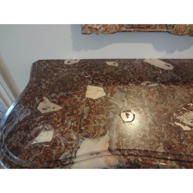 Early 19th Century French Regence Wrought Iron Console Table With Marble Top For Sale - Image 4 of 11
