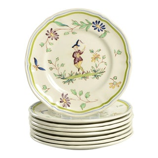 Longchamp Moustiers Appetizer Plate - Set of 8 For Sale