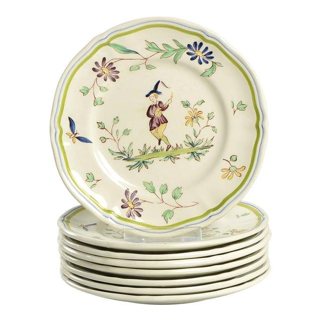 Longchamp Moustiers Appetizer Plate - Set of 8 For Sale