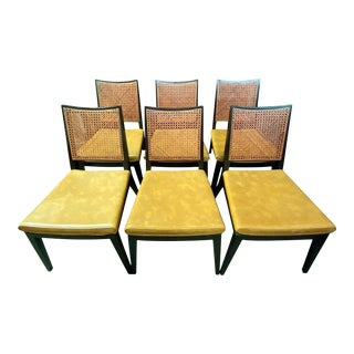 Edward Wormley for Dunbar Caned Dining Chairs - Set of 6 For Sale