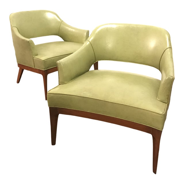 Harvey Probber Mid Century Modern Low Club Chairs or Lounge Chairs - a Pair For Sale