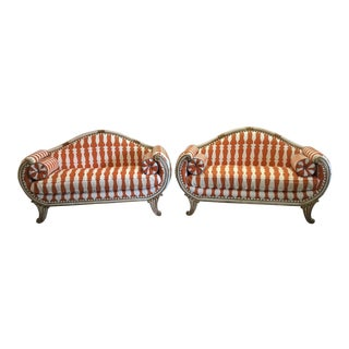 Neoclassical Parcel Gilt Settees - A Pair