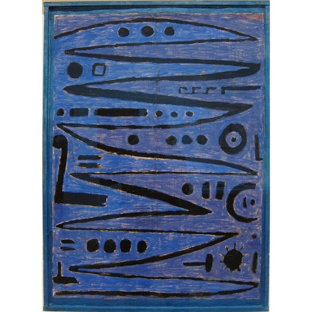 Paul Klee - Heroic Strokes of the Bow - Inspired Silk Hand Woven Area - Wall Rug 4′7″ × 6′4″ For Sale - Image 11 of 12