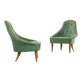 Pair of Kerstin Horlin Holmquist Lilla Eva Armchairs, Sweden, 1950s For Sale