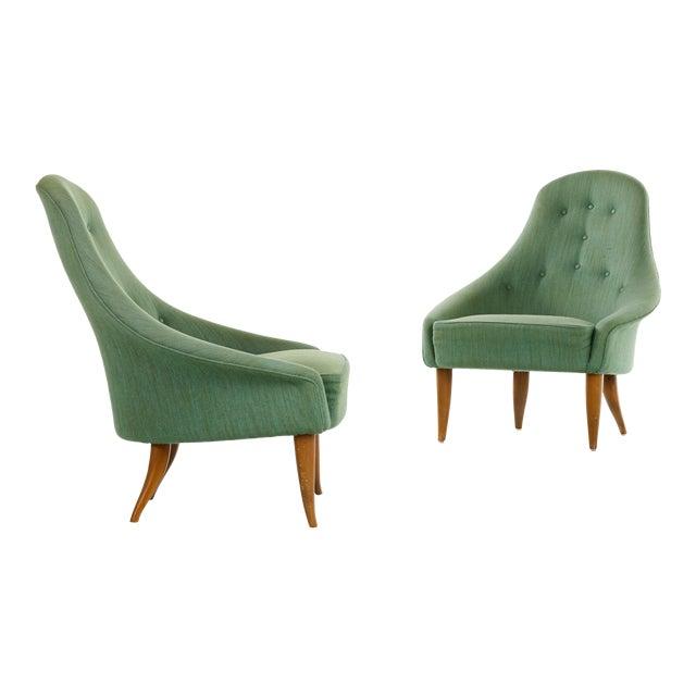 Pair of Kerstin Horlin Holmquist Lilla Eva Armchairs, Sweden, 1950s For Sale