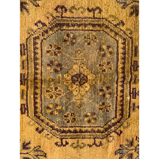 Vintage Turkish Runner in Olive Green- 4′7″ × 11′8″ For Sale In Los Angeles - Image 6 of 10