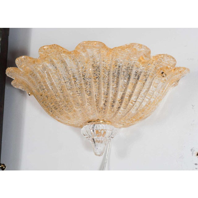 Midcentury Hand-Blown Murano Glass Wall Sconce by Barovier e Toso For Sale In New York - Image 6 of 8