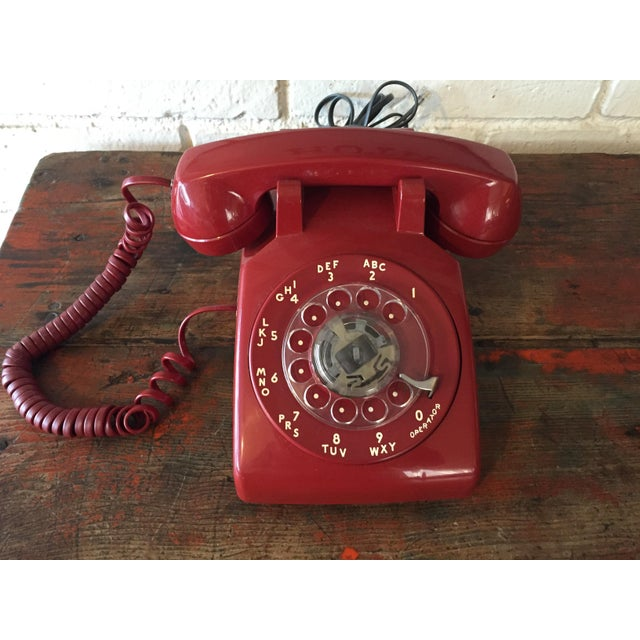 Vintage Red Rotary Telephone - Image 2 of 11