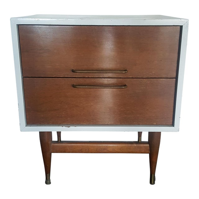 Jens Risom Attributed Mid-Century Nightstand - Image 1 of 3