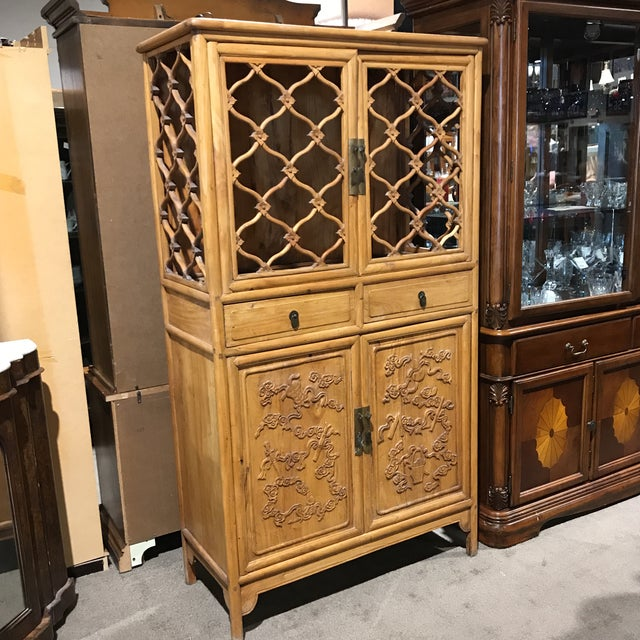Vintage Boho Chic Asian Cabinet For Sale In Las Vegas - Image 6 of 6
