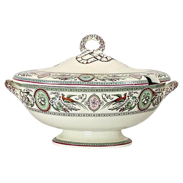 Antique French Chinoiserie Soup Tureen - Image 1 of 9