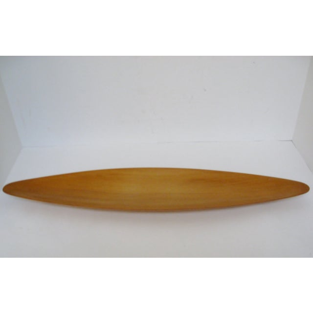 Mid-Century Modern Oval Wood Tray - Image 4 of 7