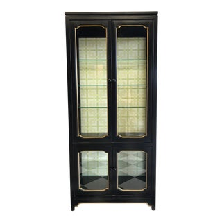 Dorothy Draper Wallpapered Cabinet