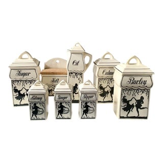 1930's German Renate Kitchen Ceramic Canisters For Sale