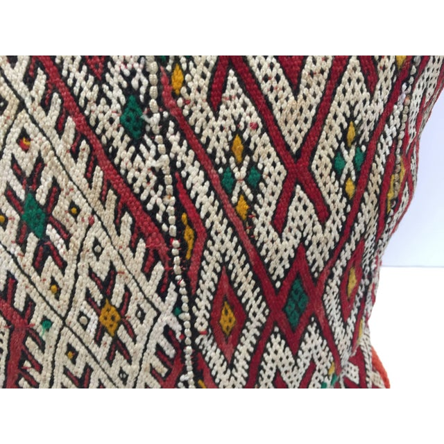 Moroccan Berber Pillow With Tribal African Designs For Sale - Image 4 of 13