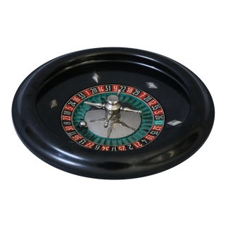 Vintage French Bakelite Roulette Wheel Game For Sale