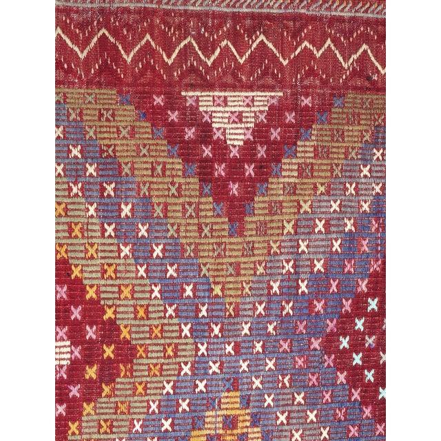 "Vintage Turkish Handmade Kilim Rug-6'1'x9'7"" For Sale - Image 9 of 13"
